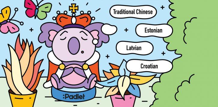 Adición de croata, estonio, letón y chino tradicional en Padlet